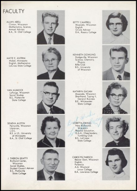 1955 Richland Center High School Yearbook Page 9