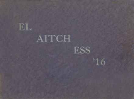 1916 Lowell High School Yearbook Cover