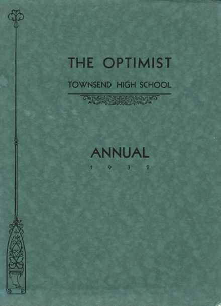 1932 Townsend High School Yearbook Cover