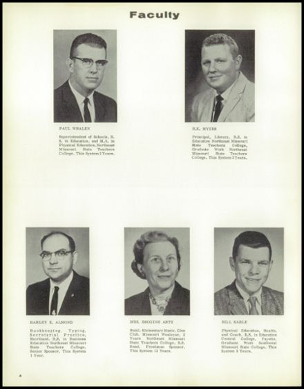 1962 Linn County High School Yearbook Page 8