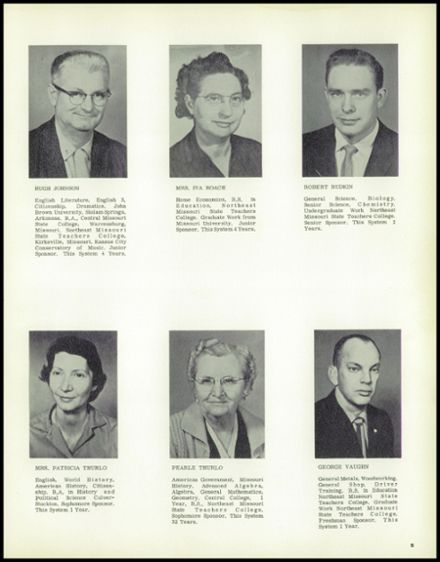 1962 Linn County High School Yearbook Page 9