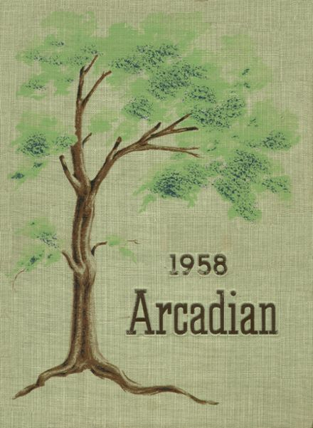 1958 Arcadia High School Yearbook Cover