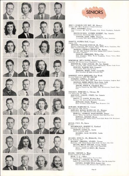 1948 University of Texas Yearbook Cover
