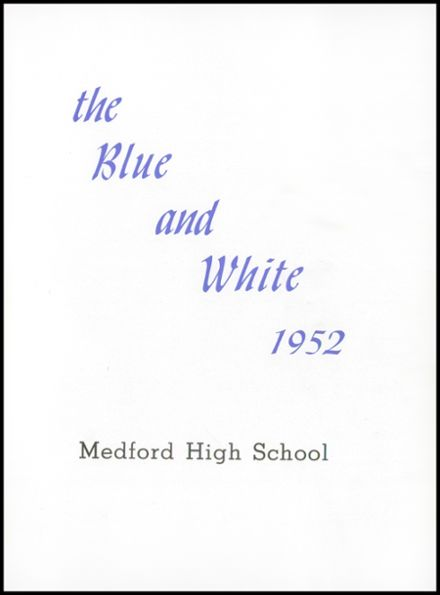 1952 Medford High School Yearbook Page 5