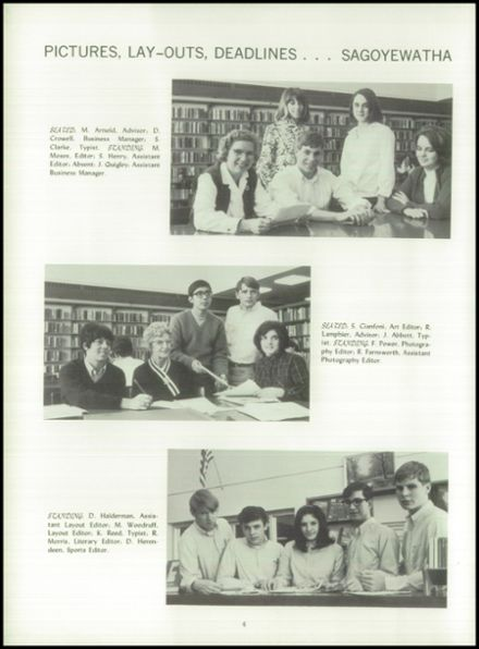 1968 Red Jacket Central High School Yearbook Page 8