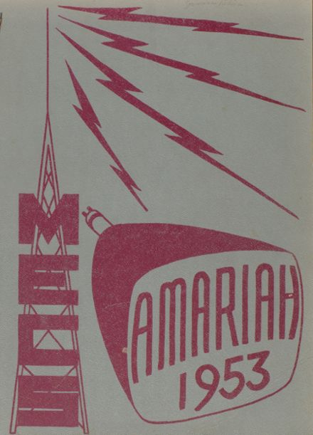 1953 Morrisville-Eaton High School Yearbook Cover