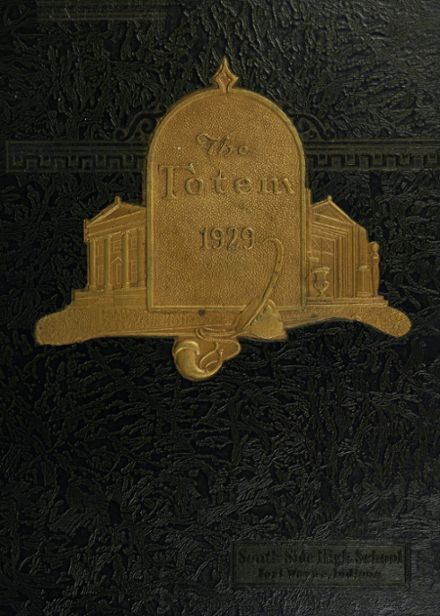1929 South Side High School Yearbook Cover