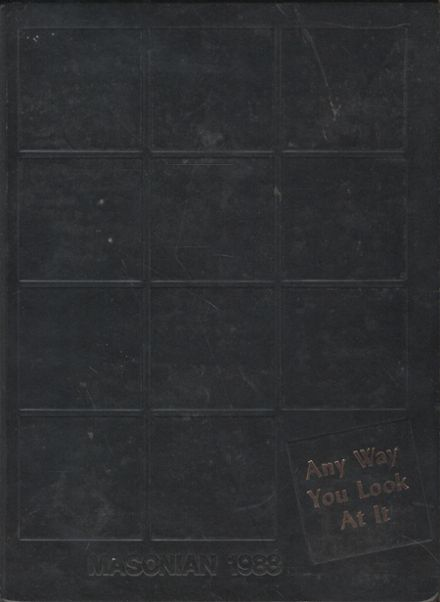 1988 Mason City High School Yearbook Cover