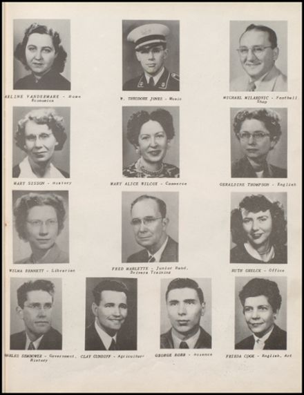 1950 Lowell High School Yearbook Page 9