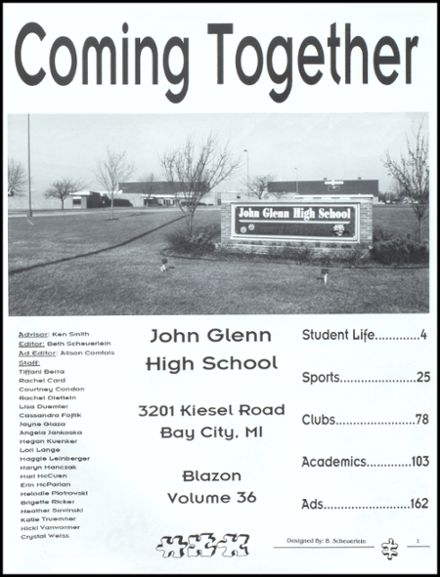 2000 John Glenn High School Yearbook Page 5