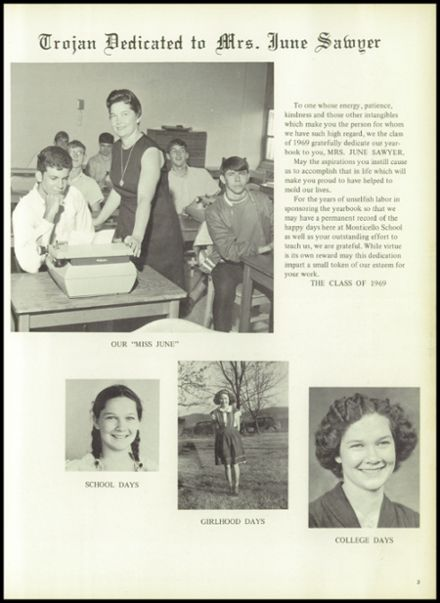 1969 Monticello High School Yearbook Page 7