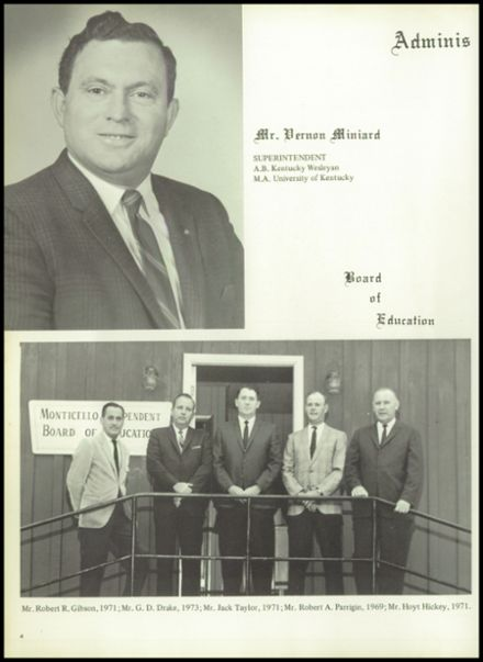 1969 Monticello High School Yearbook Page 8