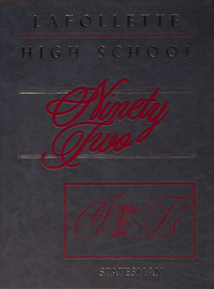 1992 Lafollette High School Yearbook Page 1