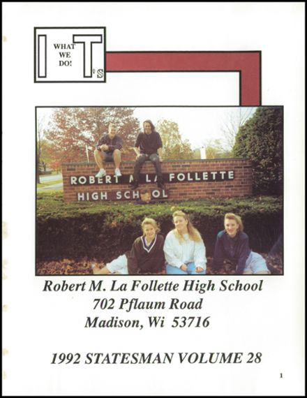 1992 Lafollette High School Yearbook Page 5