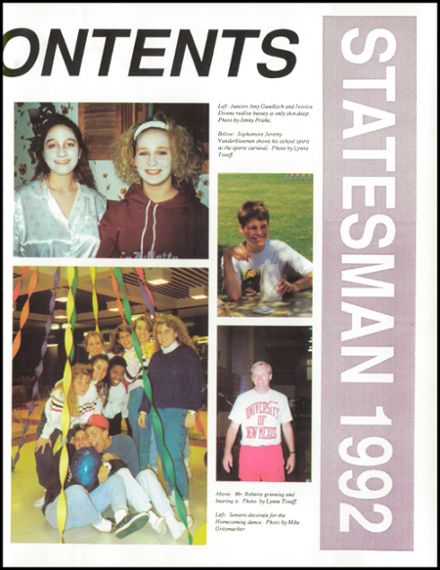 1992 Lafollette High School Yearbook Page 7
