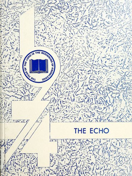 1974 Clinton Christian High School Yearbook Cover