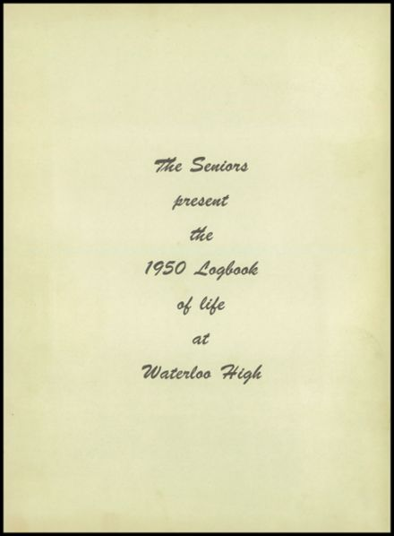 1950 Waterloo High School Yearbook Page 5