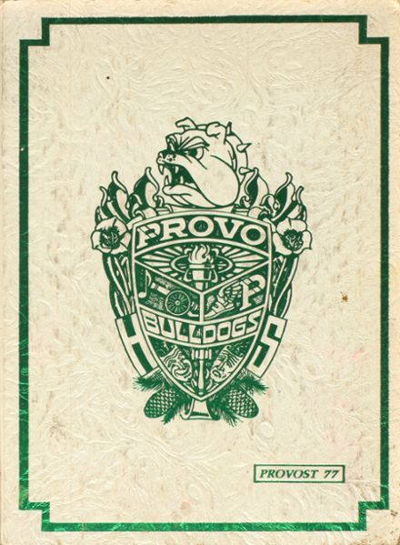 1977 Provo High School Yearbook Cover