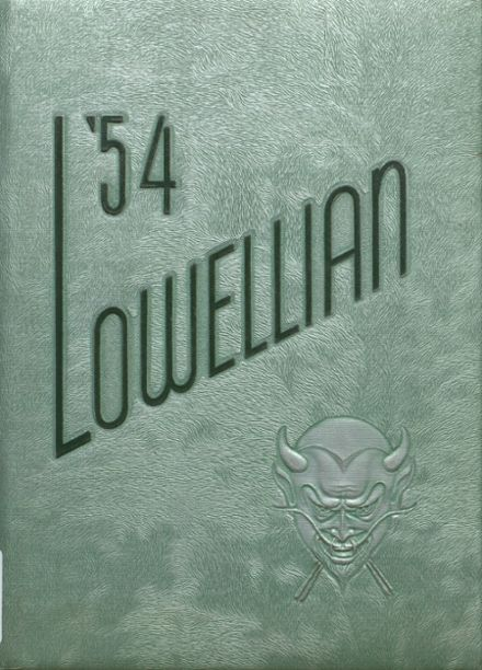 1954 Lowell High School Yearbook Cover