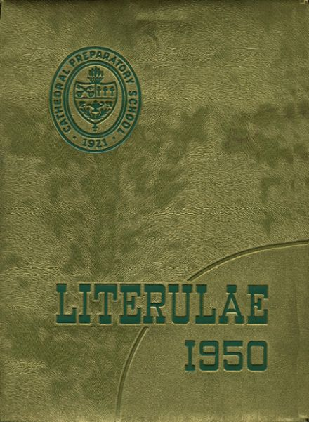 1950 Cathedral Preparatory Yearbook Cover