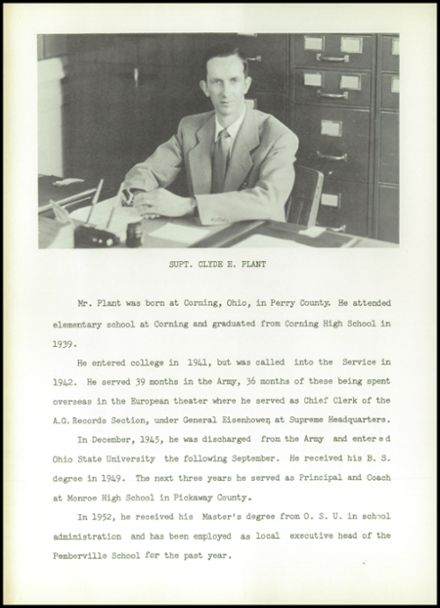 1953 Pemberville High School Yearbook Page 6