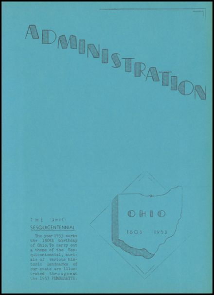 1953 Pemberville High School Yearbook Page 9