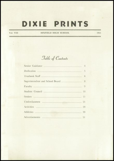 1955 Dixfield Seventh Day Adventist School Yearbook Page 3