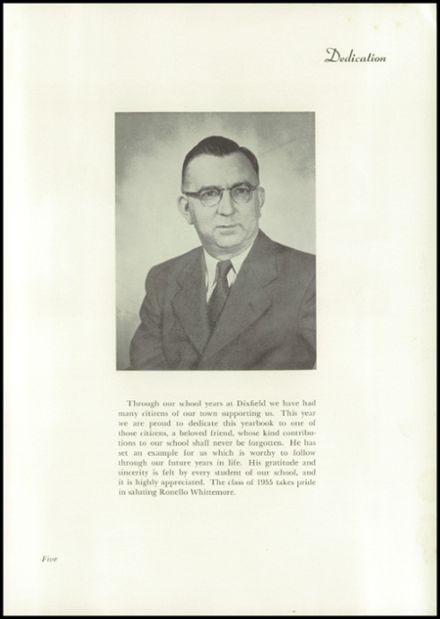 1955 Dixfield Seventh Day Adventist School Yearbook Page 7