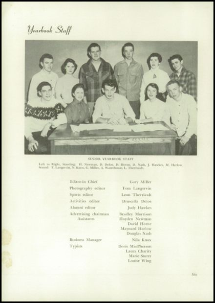 1955 Dixfield Seventh Day Adventist School Yearbook Page 8