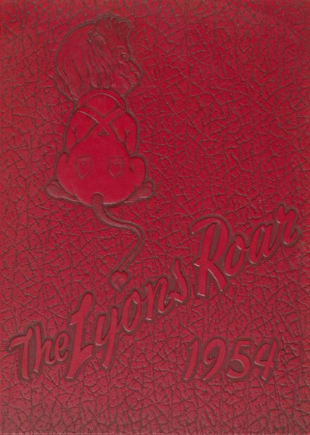 1954 Lyons Village High School Yearbook Cover