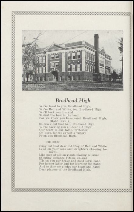 1927 Brodhead High School Yearbook Page 4