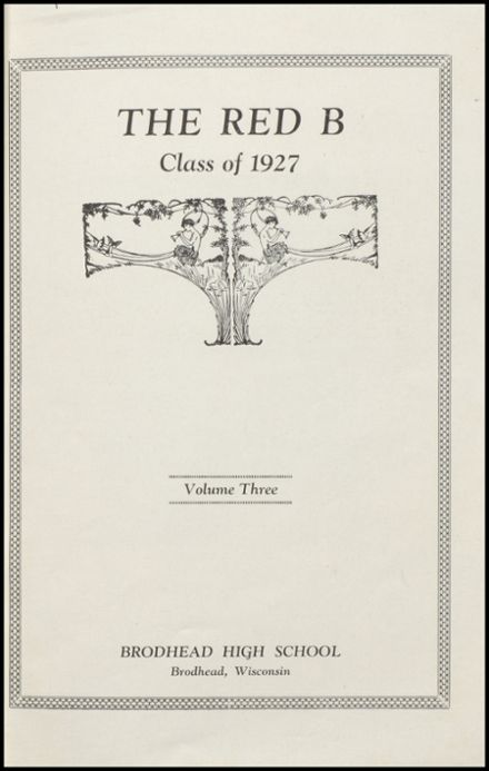 1927 Brodhead High School Yearbook Page 5