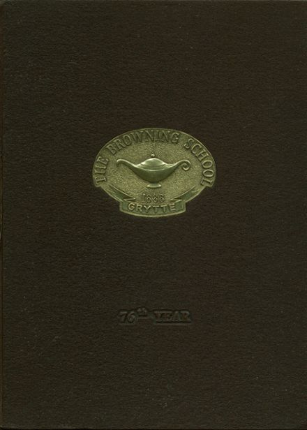 1976 Browning School Yearbook Cover