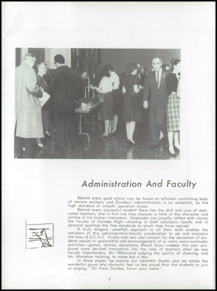 1962 Dundee Community High School Yearbook Page 8