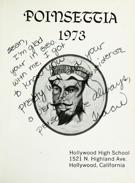 1973 Hollywood High School Yearbook Page 5