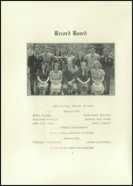 1938 Roxbury Central High School Yearbook Page 4