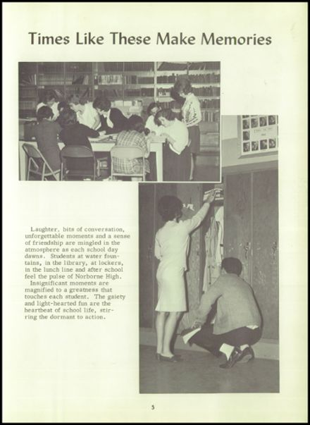 1964 Norborne High School Yearbook Page 9