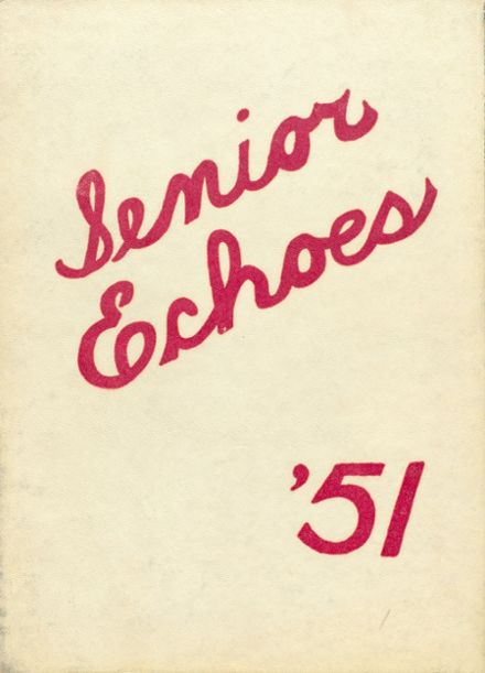 1951 Tecumseh High School Yearbook Cover