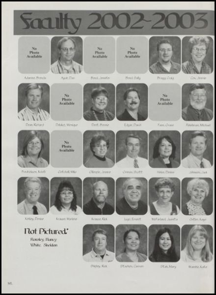 2003 Williams High School Yearbook Page 8
