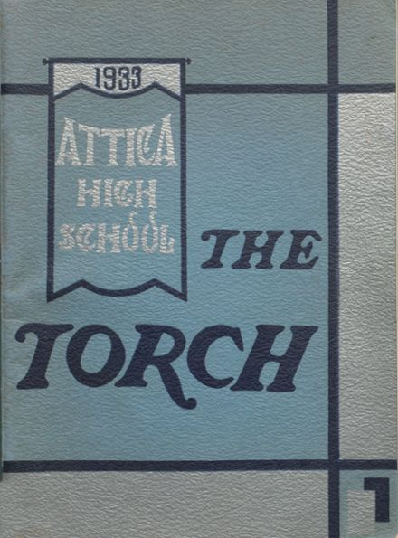 1933 Attica High School Yearbook Cover