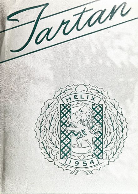 1954 Helix High School Yearbook Cover