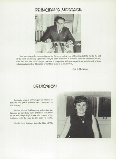 1970 Thayer High School Yearbook Page 7