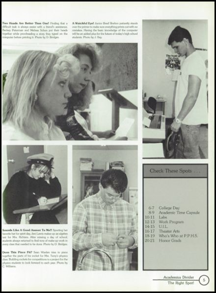1991 Selz High School Yearbook Page 9