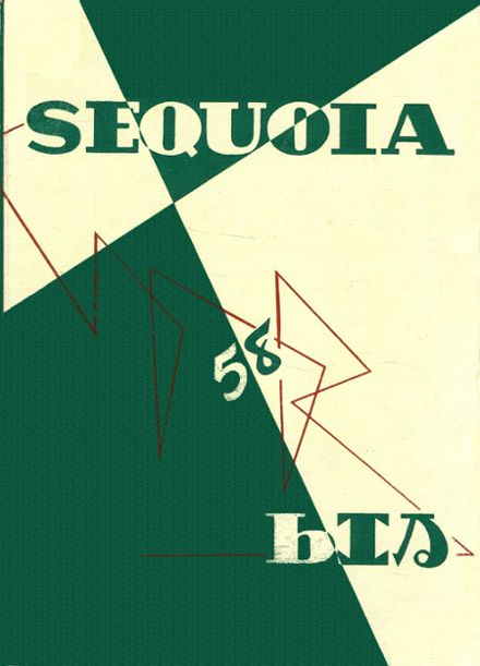 1958 Eureka High School Yearbook Cover
