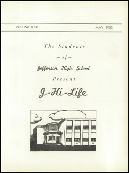 1953 Jefferson Area High School Yearbook Page 5