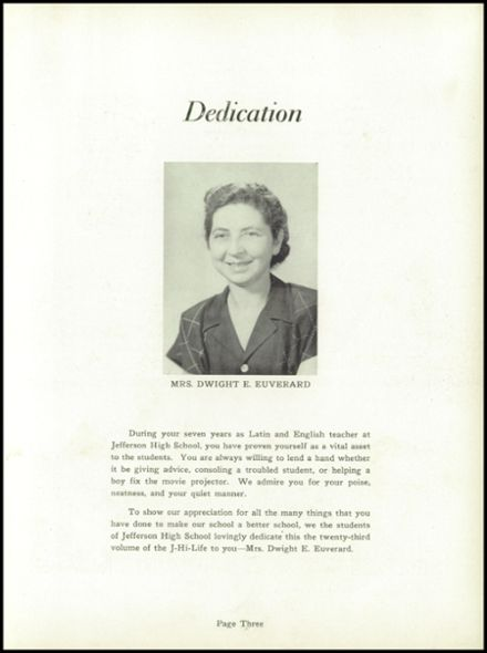 1953 Jefferson Area High School Yearbook Page 7