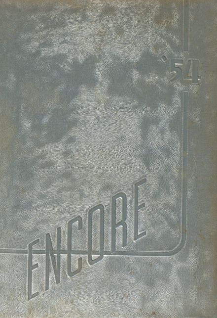 1954 Broadview Academy Yearbook Cover