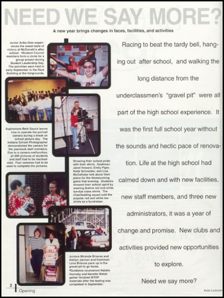 2001 Rushville Consolidated High School Yearbook Page 6