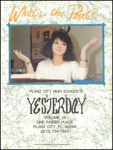 1990 Plant City High School Yearbook Page 5