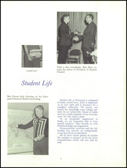 1963 Princeton High School Yearbook Page 9